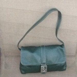 Forest green Ralph Lauren leather bag